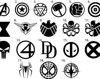 Marvel Vinyl Decals