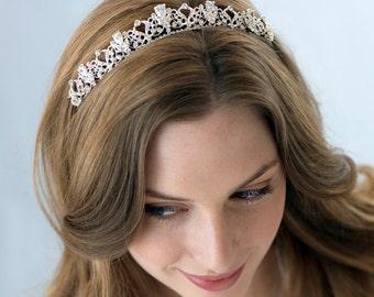 Bridal, Petite Rhinestone Tiara, Rhinestone Wedding Tiara, Princess Bridal Crown, Rhinestone Bridal Tiara, Rhinestone Wedding Crown ~TI-3174
