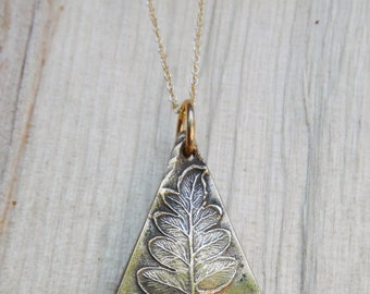 Fern Necklace in Bronze