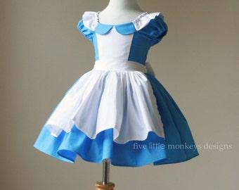 Alice in Wonderland Dress - Alice Dress - Alice in Wonderland - Queen of Hearts - White Rabbit - Alice in Wonderland Costume