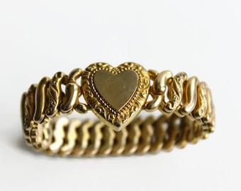 Vintage American Queen Expansion Bracelet, Sweetheart Bracelet, Circa 1940's