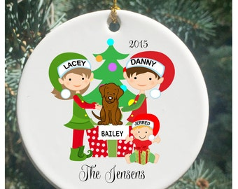 Personalized Christmas Ornaments Christmas with Child and Lab...Christmas Ornament