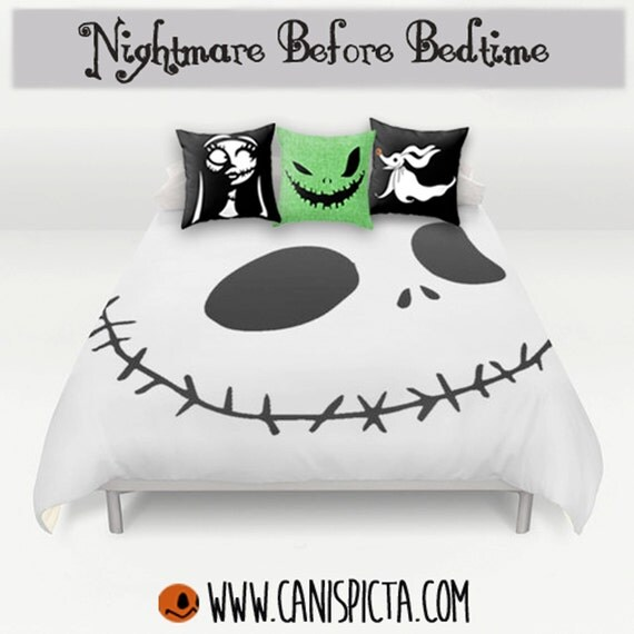 nightmare before christmas bedding duvet jack skellington bed