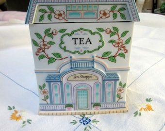 Tea/Biscuit Caddy, Lenox Village Canisters Series, Porcelain