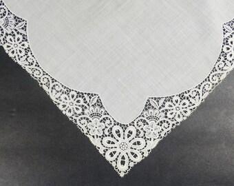 Wedding Lace Handkerchief - Vintage Handerchief - Lace Handkerchief - Something Old