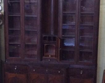 Museum Piece!  Mahogany Classical Gentleman's Breakfront Secretary Bookcase 1848 Louis Fieder