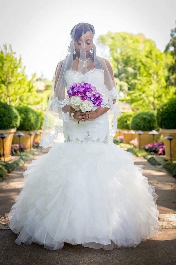 Affordable, Gorgeous Lace Drop Veil