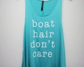 Boat Hair Don't Care mint tank S & L