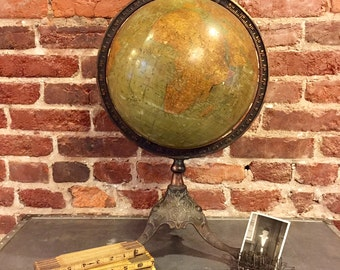 1909 Antique World Globe by Rand McNally