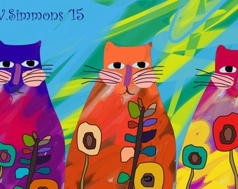 3 Cats - Digital Art