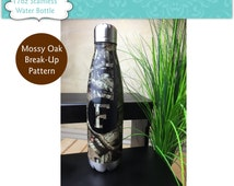 Qty 11 - Stainless Steel Water Bottle, 26oz, Personalized Thermos, Camo Water Bottle, Groomsmen Gift, Hunting Gifts for Men, Hunting Girl