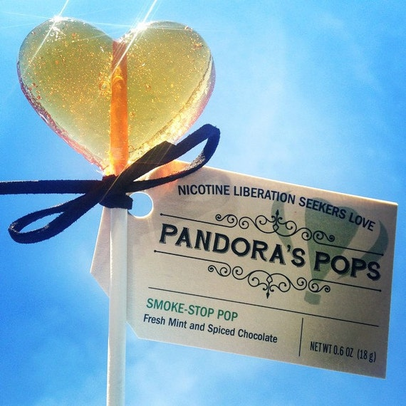 SMOKE STOP POPS: Lollipops for Quitting Smoking. 3 Week Supply (60 pops). Delicious, organic, herbal gift to reduce cravings & withdrawal