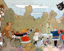 Incredible 2 Page Of Characters! Alice in Wonderland Vintage Illustration. DIGITAL Alice Wonderland Download. Margaret TARRANT First Edition