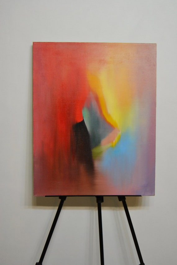 Red painting abstract art painting, woman painting back, dancer painting ballet, oil painting canvas wall art modern painting