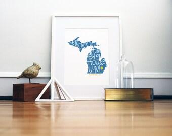 University of Michigan Big House Print