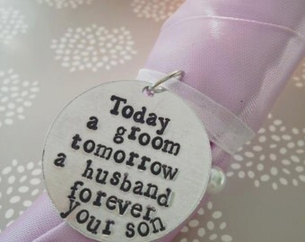 Mother of the Groom bouquet charm