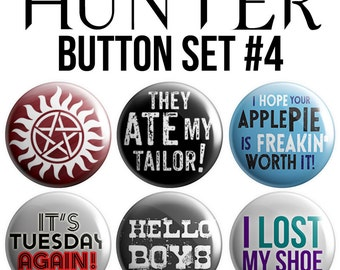 Hunter Pinback Button Set #4