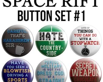 Space Rift Pinback Button Set #1