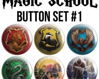 Magic School Pinback Button Set #1