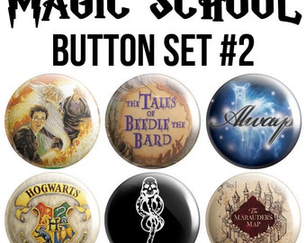 Magic School Pinback Button Set #2