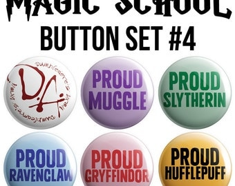 Magic School Pinback Button Set #4