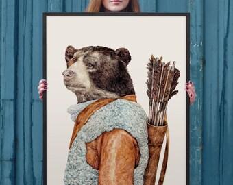Large Framed Print, Large Wall Art, Framed Art Print, Arrows - HUNTER