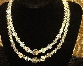 Vintage Swarovski Double Stranded Necklace
