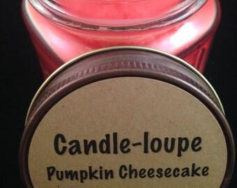 Pumpkin Cheesecake-  16 oz Glass Mason Jar