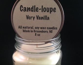 Very Vanilla Mason Jar Candles