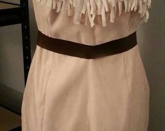 Custom** One Shoulder Fringe Disney Pocahontas Halloween Costume (Arm Band/Necklace Sold Separately)