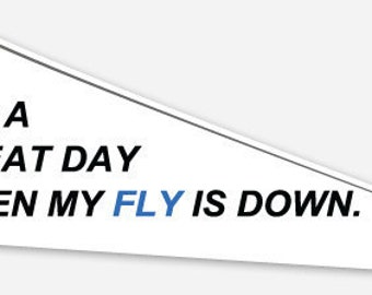 Fly Fishing Sticker (Compact)