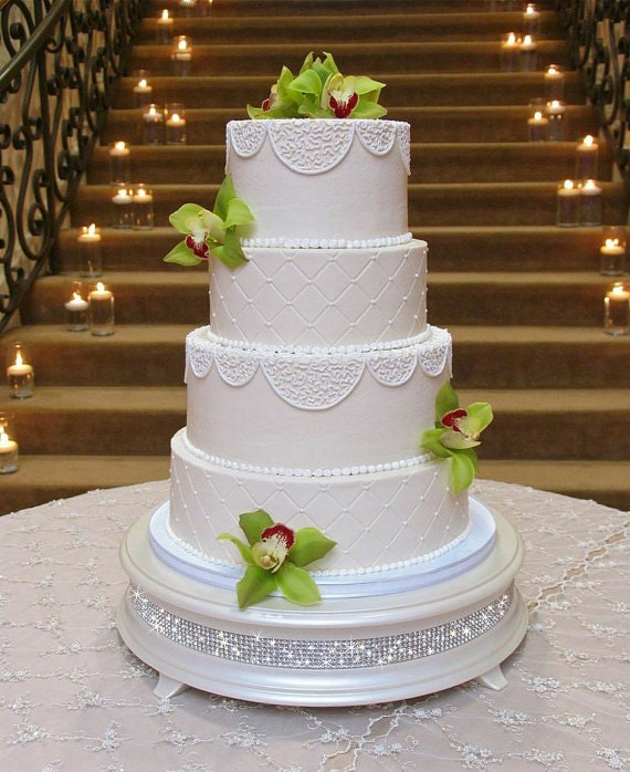 diamond wedding cake stand 16 inch ivory pearl wedding cake stand 3515