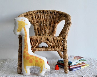 stuffed animal, Giraffe cotton stuffed toy, yellow pillow, Deco pillow, Children pillow, kids toy, baby room stuffed toy, nursery room