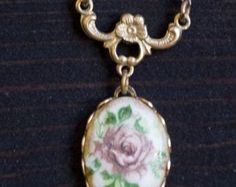 Sweet Little Flower Locket Necklace