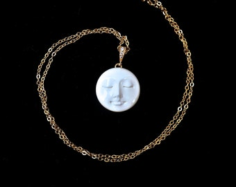 RARE Reversible Moon Face Necklace