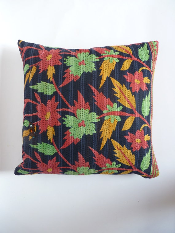 Hippie Floor Pillows : boho floor cushion // large boho pillow case // large kantha
