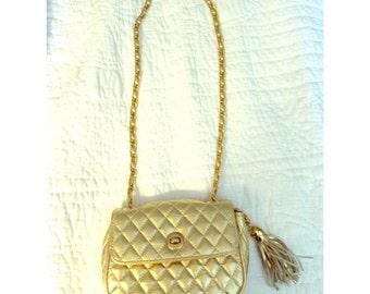 Vintage Gold Chain Satchel