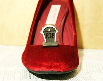 Cemetery Tombstone Goth Shoe Clips