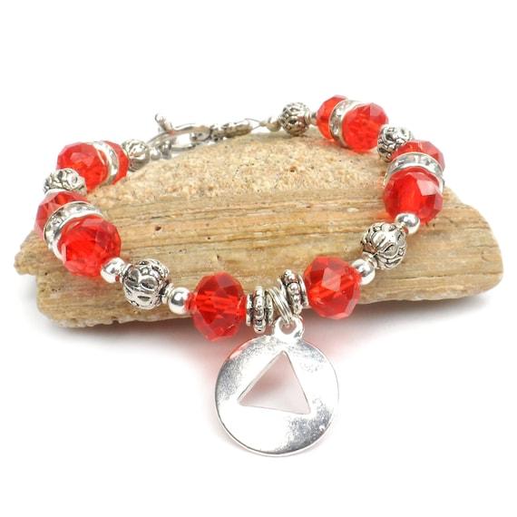 ... Addiction Recovery Bracelet, Addiction Awareness Jewelry, Hope
