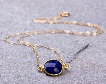 Lapis Necklace / Bridesmaid necklace / Royal Blue necklace / Lapis Lazuli / September Birthstone necklace / Lapis Pendant |Sciapods