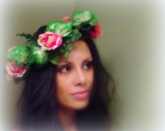 Flower Crown, Boho Hair Accessory, Floral Crown