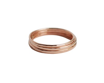 SML Rings, Thin Gold Rings, Thin Gold Stacking Rings, Simple Ring Stack, Set of Three Gold Rings, Gold Filled Rings, 14K Gold Plain Band