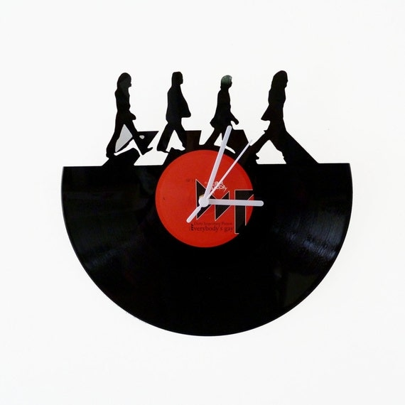Vinyl clock Beatles Abbey Road