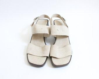 Minimal Beige Ankle Strap Sandal