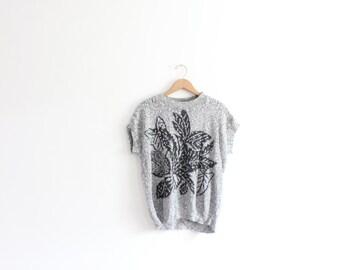 Gray Plant 80s Sweater
