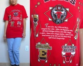 Vintage Chicago Bulls 90's Championship Shirt // Official NBA Product (Men's Medium or Women's Large)