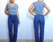 Vintage Jeans CHARDON PARIS // Bootleg // High Waisted // Small (size 2)