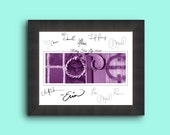 Relay For Life HOPE guest book or thank you gift - instant download <3