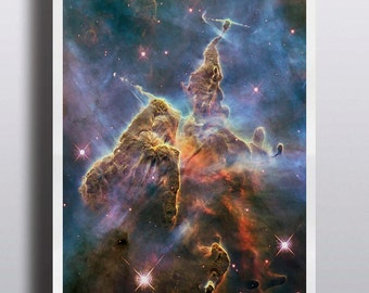 Space Poster Nebula Galaxy Poster Nebula Outer Space Mystic Mountain Wall Decor Large Format Print Prints Wall Art 16x20