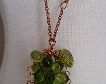 Green Grape Cluster Necklace